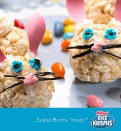 These Rice Krispies Treats™ bunnies are a great way for kids to get creative in the kitchen because they're a super-easy shape for little hands to mold.