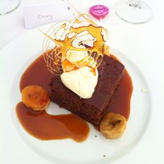 Sticky toffee pudding...don't love the presentation but have to find a way to make this wedding food
