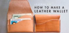 A detailed but easy introduction to leathercraft with a beautifully minimalist wallet project. Watch out Etsy.