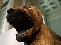 Assyrian Guardian Lion from Temple of Ishtar in Nimrud.