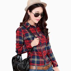 JAMBIFY has your Long sleeved plai... in stock!    http://www.jambify.com/products/2016-spring-new-long-sleeved-plaid-shirt-bottoming-casual-shirt-female-college-style-casual-womans-plus-size-blouses-shirts?utm_campaign=social_autopilot&utm_source=pin&utm_medium=pin