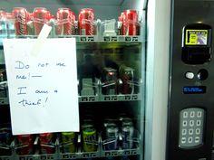 A publicly-shamed vending machine
