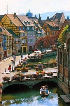9 Real Life Fairytale Villages in Europe - Quaint and charming Colmar, France looks like something right out of a snow globe. Its architecture is well preserved and when blanketed by snow, the entire city seems to sit in peaceful silence. Places Around The World, Oh The Places You'll Go, Travel Around The World, Places To Travel, Travel Destinations, Places To Visit, Dream Vacations, Vacation Spots, Beach Paradise