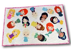 Perfect princess minky baby quilt!