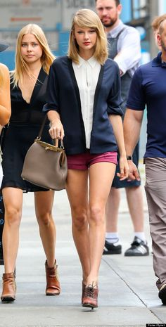 Taylor Swift: Still a little too thin for me, but someone whose personality is charming :) PLEASE don't try to be this thin!