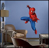 spiderman wall mural decal stickers fathead spider-man theme bedrooms