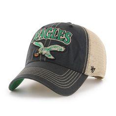 04cc9a429a198 Philadelphia Eagles 47 Brand Tuscaloosa Classic Vintage Black Clean Up Hat