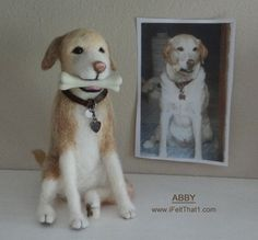 Abby commissioned dog - Needle Felted by Trish Veilleux. www.iFeltThat1.com