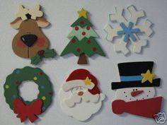 decoracion navideña en goma eva -