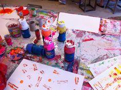 Malen mit Kindern, Kinderkunsthaus, München - Jules & Pi
