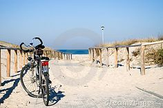Bike by the sea. by Sebastian Czapnik, via Dreamstime