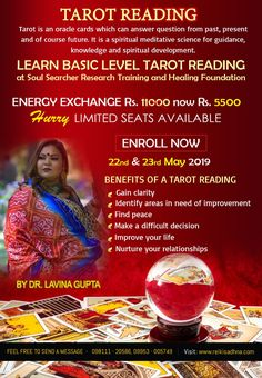 "Energy Exchange ""Tarot Card Reading Can Be Performed By Anyone Though You Will Receive Better Readings From People With Strong Intuition. Know Your Future, Reiki Classes, Learn Reiki, Online Tarot, Spiritual Healer, Spiritual Development, Reading Workshop, Oracle Cards, Card Reading"