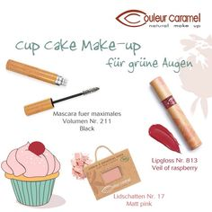 Cup cake make-up voor groene ogen