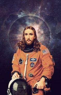 Nicholas Redfunkovich, Seattle, WA, Jesus Christ Astronaut Poster