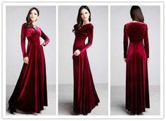 2013 New Autumn Winter V Neck Gorgeous Shimmer Velvet Stretchy Long Sleeve Dress | eBay