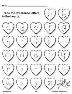 Printable Valentine's Day Uppercase and Lowercase Alphabet Letter Tracing Worksheets! - FREE Printable Valentine's Day Uppercase Alphabet Letter Tracing Worksheet! Alphabet Tracing Worksheets, Uppercase Alphabet, Printable Preschool Worksheets, Tracing Letters, Preschool Alphabet, Free Printable Alphabet Letters, Abc Tracing, Letter Worksheets, Handwriting Worksheets