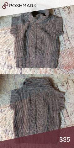 """Madewell Cable knit cowl sweater vest Madewell """"Wallace"""" sweater vest from early days of madewell! Rare find!! 100% lambswool. Worn a few times. Super warm! Madewell Sweaters Cowl & Turtlenecks"""