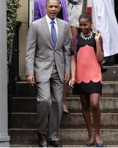 President and his daughter, 2013.