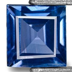 0.38-Carat Square 4mm Intense Blue Sapphire from Madagascar