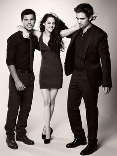 Taylor Lautner, Kristen Stewart & Robert Pattinson