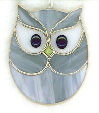 Stained Glass OWL Suncatcher (OWL28)