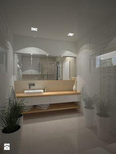 Dom w stylu Bauhaus - Niemcy - Średnia łazienka na poddaszu w bloku w domu jednorodzinnym bez okna, styl nowoczesny - zdjęcie od Kameleon - Kreatywne Studio Projektowania Wnętrz