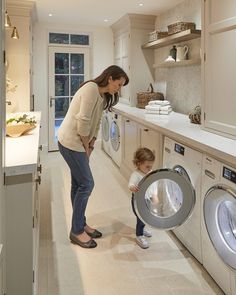 Ava's current favourite activity is putting washing in the @miele_gb machines- I had a lot of people asking why I didn't go for integrated…