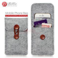 Bolsa de teléfono Para el iphone 6 6 s Más 5.5 pulgadas caso Para el iphone 6 4.7 pulgadas bolsas bolsos del teléfono móvil casos Cubierta de Fieltro De Lana billetera