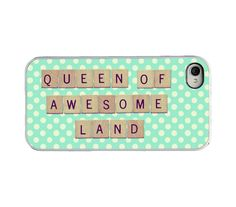 Quote Iphone case  Scrabble Iphone cover  Queen by RetroLoveCases, $16.95