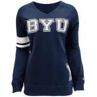 Champion Juniors Fitted BYU V-Neck Sweatshirt (Multiple Colors)