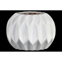 "Urban Trends Collection UTC53019: Patterned Round Vase with Embossed Diamond Design Body LG Matte Finish Medium 8""-15"" -"