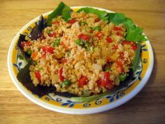 Malaysian inspired cous cous salad