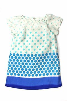 Charabia Blue Dot Dress | kids fashion | ladida