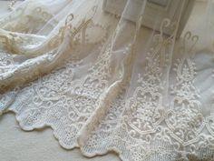 Algodón bordado malla tejido de encaje en Color por prettylaceshop