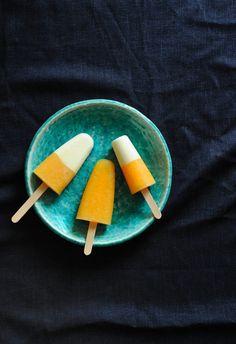 Rock Melon and Yoghurt Pops