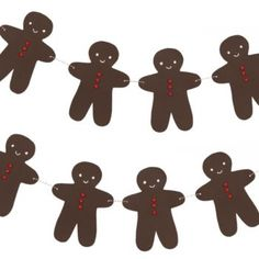 Gingerbread Man Garland Kit