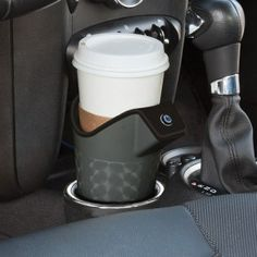 Keep your coffee warm on the road. Plug in your travel warmer, insert your paper cup full of your favorite hot beverage, and hit the road. The travel warmer fits all car and truck cup holders. Powered by a standard 12V power adapter.