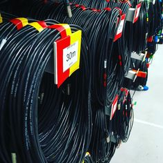 Neatly coiled and tested cable waiting to be packed, on the racks at TSL today.  #lightingwarehouse #lightingrental #lightinghire #theatrelighting #stagelighting #eventlighting #cable #eventcrew #eventprofs #eventprofsuk #mainsdistribution
