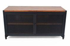 Schuhschrank-Schuhkommode-CLOVER-Industrial-Metall-Shoe-Cabinet