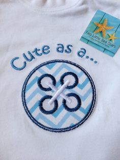 Cute As A Button Onesie Choose Your by twolittleseastars on Etsy, $20.00