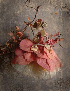 paper work by miss clara Miss Clara, Paper Mache Crafts, Found Art, Paperclay, Paper Artist, Arte Floral, Fairy Dolls, Beautiful Dolls, Textile Art