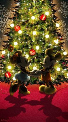 X-mas with Mickey and minnie♡