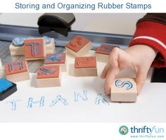This guide is about storing and organizing rubber stamps. Keeping your stamps easy to find when doing a project is helpful.