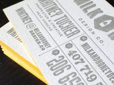 tags: business card, typography, letterpress, yellow