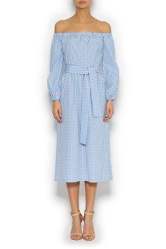 Платье миди на резинке ROSEVILLE