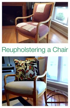 Reupholstering a favorite chair tutorial. #diy chatfieldcourt.com