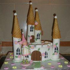 Os Bolos das Manas: Bolo Castelo Princesa 3
