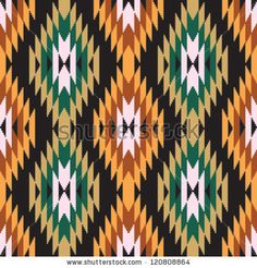 Ethnic Abstract Geometric Pattern Ikat Ornament Stock Vector ...
