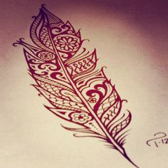 Unique Feather Tattoo  http://bible.cc/psalms/91-4.htm work this into the feather spaces