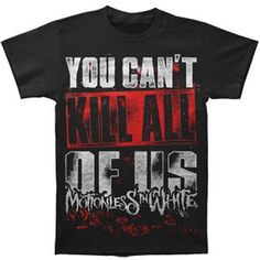 Motionless In White Men's You Can't Kill All Of Us T-shirt Black (£12) ❤ liked on Polyvore featuring men's fashion, men's clothing, men's shirts, men's t-shirts, shirts, tops, mens white t shirts, mens white shirts and mens t shirts